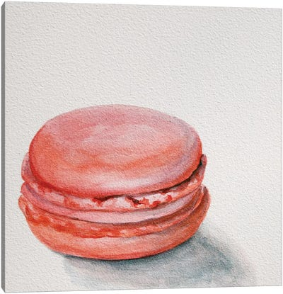 Raspberry Macaron Canvas Art Print