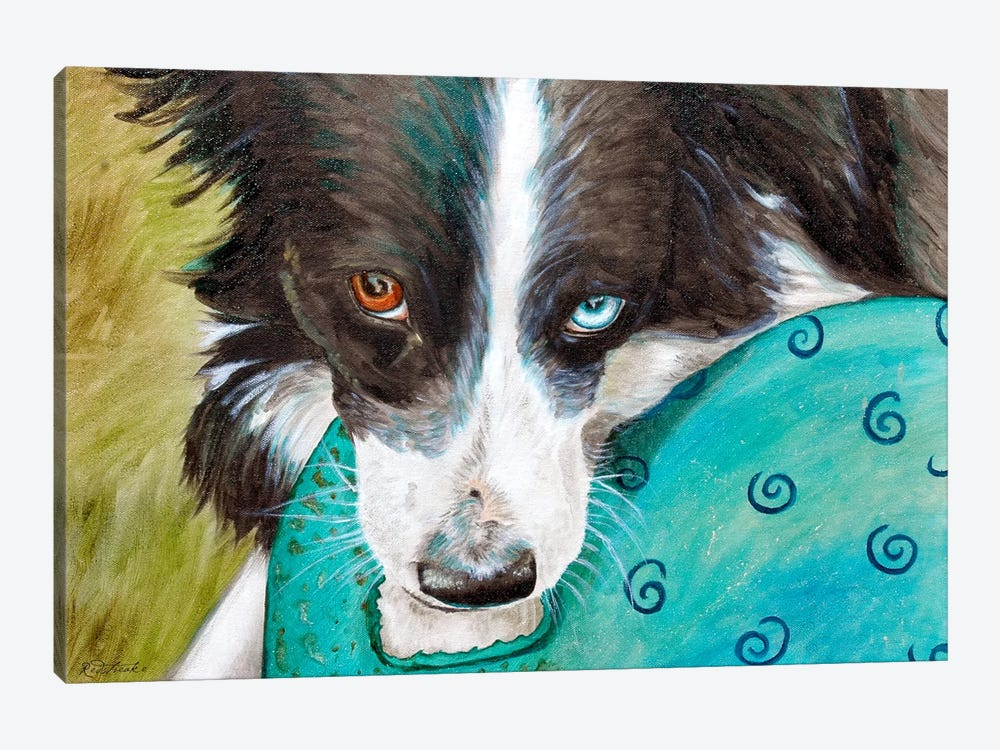 Border Collie by Jennifer Redstreake 1-piece Canvas Art Print