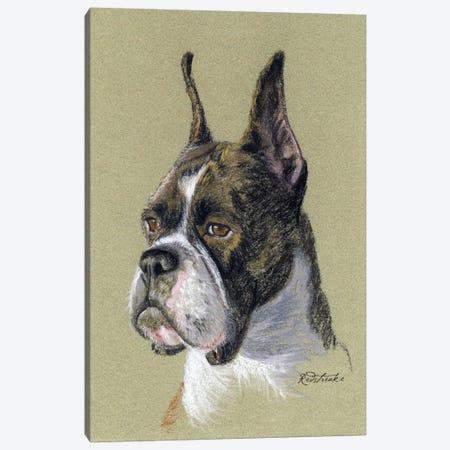 Boxer Canvas Print #JRE65} by Jennifer Redstreake Canvas Wall Art