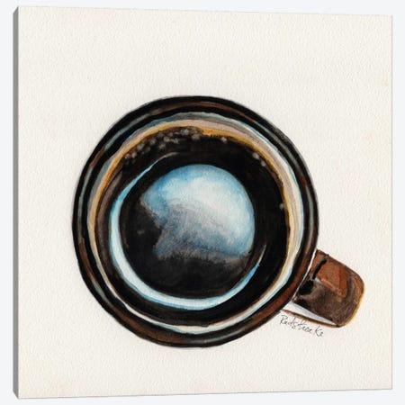 Brown Coffee Cup Canvas Print #JRE66} by Jennifer Redstreake Canvas Art