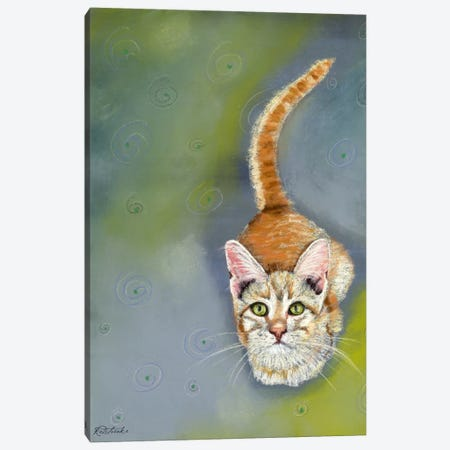Cat Begging Canvas Print #JRE67} by Jennifer Redstreake Canvas Wall Art