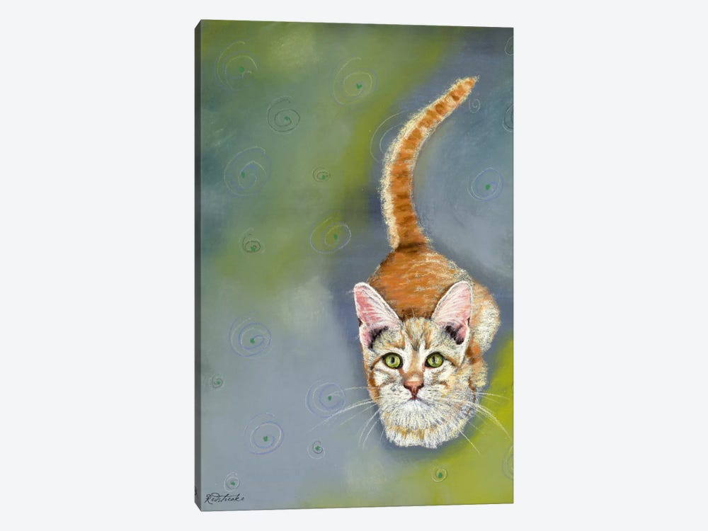 Cat Begging by Jennifer Redstreake 1-piece Canvas Art