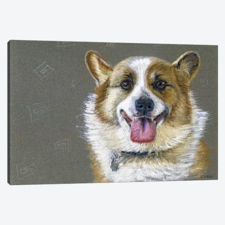 Corgie Canvas Print #JRE69} by Jennifer Redstreake Canvas Art Print