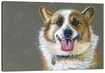 Corgie Canvas Art Print