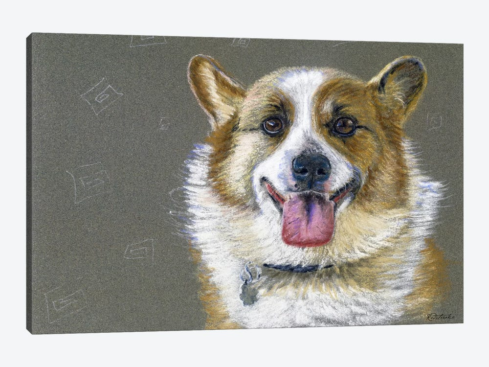 Corgie by Jennifer Redstreake 1-piece Canvas Artwork