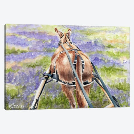 Donkey Lavender Canvas Print #JRE71} by Jennifer Redstreake Canvas Art