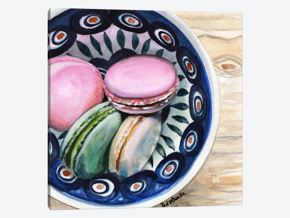 Macarons In A Bowl by Jennifer Redstreake 1-piece Art Print