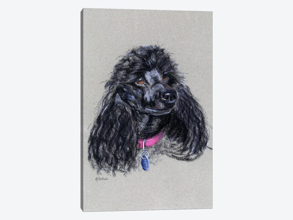 Poodle 1-piece Canvas Wall Art