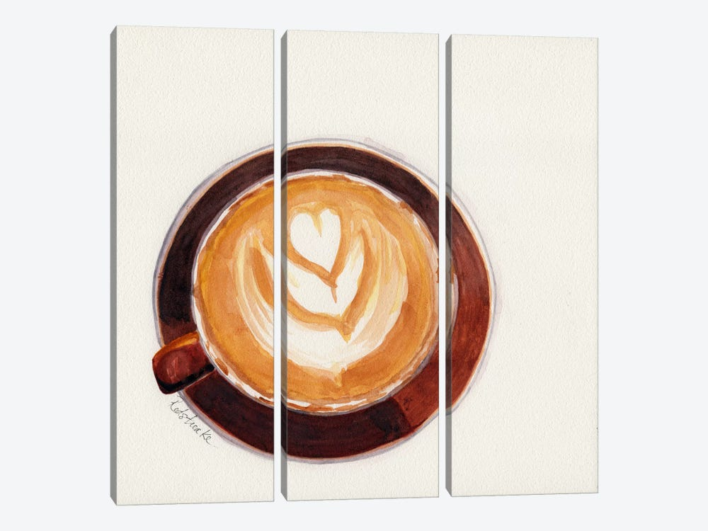Red Coffee Cup by Jennifer Redstreake 3-piece Canvas Artwork