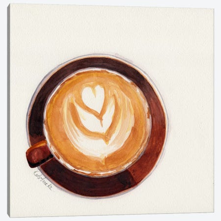 Red Coffee Cup Canvas Print #JRE85} by Jennifer Redstreake Canvas Art
