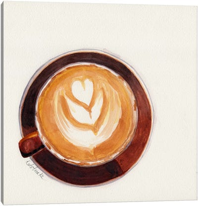 Red Coffee Cup Canvas Art Print