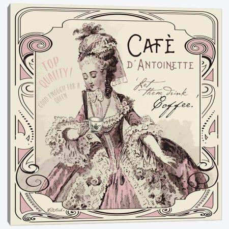 Vintage Collage: Café d'Antoinette Canvas Print #JRE89} by Jennifer Redstreake Art Print