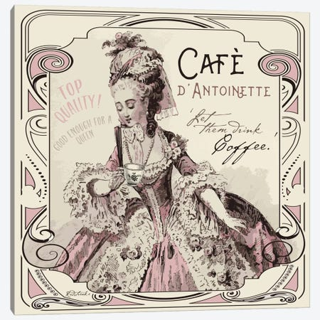 Vintage Collage: Café d'Antoinette Canvas Print #JRE89} by Jennifer Redstreake Art Print
