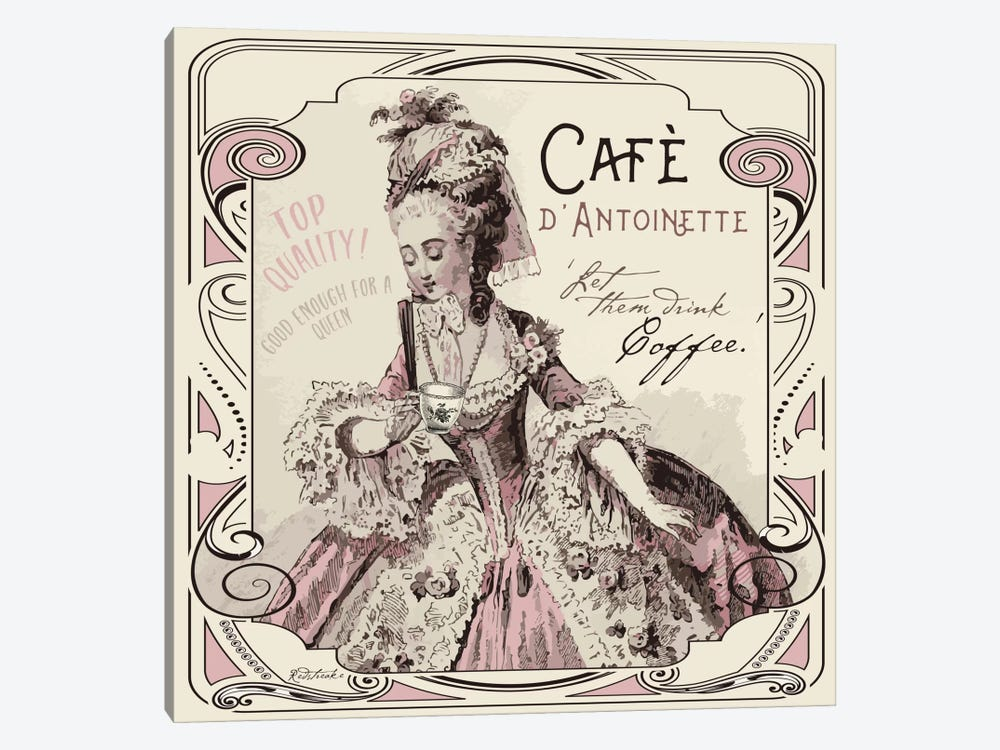 Vintage Collage: Café d'Antoinette by Jennifer Redstreake 1-piece Canvas Art