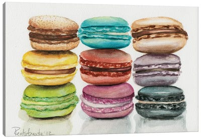 9 Macarons Canvas Print #JRE8
