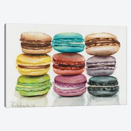 9 Macarons 3-Piece Canvas #JRE8} by Jennifer Redstreake Canvas Artwork