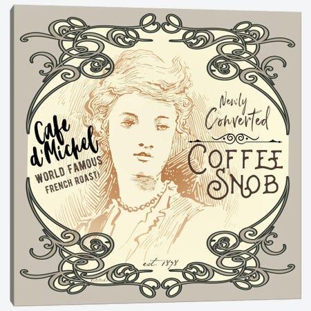 Vintage Collage: Coffee Snob Canvas Print #JRE90} by Jennifer Redstreake Canvas Art