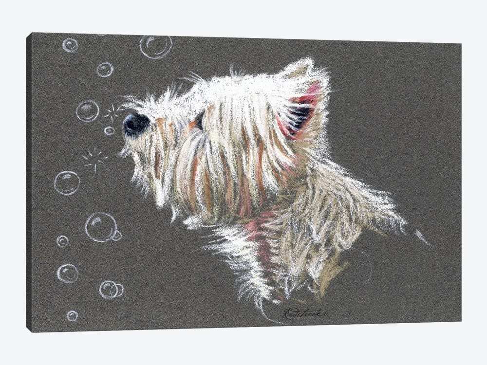 Westie Bubbles by Jennifer Redstreake 1-piece Art Print