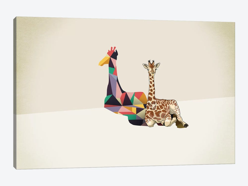 Walking Shadow Giraffe by Jason Ratliff 1-piece Canvas Art