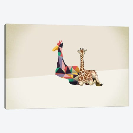 Walking Shadow Giraffe Canvas Print #JRF10} by Jason Ratliff Art Print