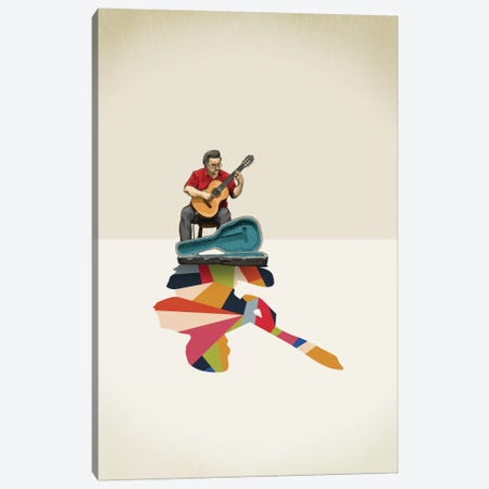 Walking Shadow Guitarist Canvas Print #JRF11} by Jason Ratliff Art Print