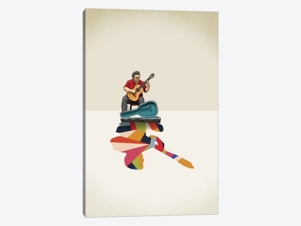 Walking Shadow Guitarist by Jason Ratliff 1-piece Canvas Art Print