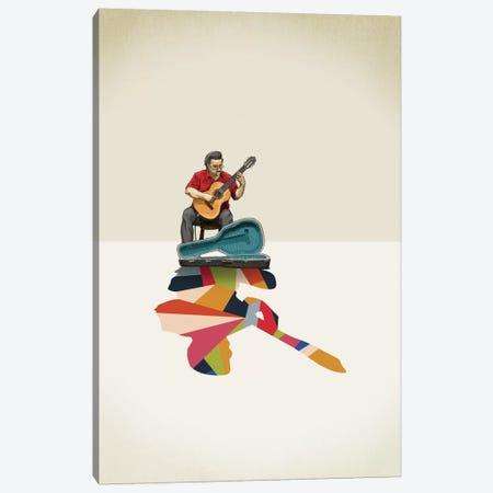 Walking Shadow Guitarist Canvas Print #JRF11} by Jason Ratliff Art Print