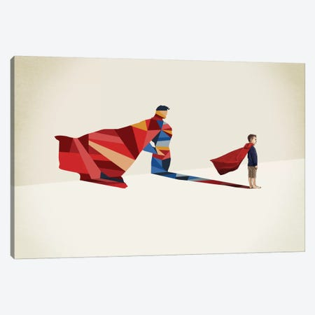 Walking Shadow Hero I Canvas Print #JRF12} by Jason Ratliff Art Print