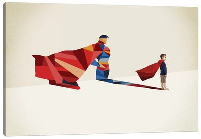 Walking Shadow Hero I Canvas Print #JRF12
