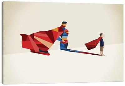 Walking Shadow Hero I Canvas Art Print