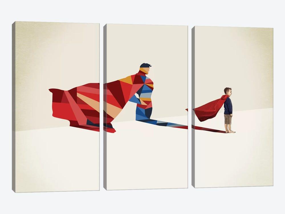 Walking Shadow Hero I by Jason Ratliff 3-piece Canvas Wall Art