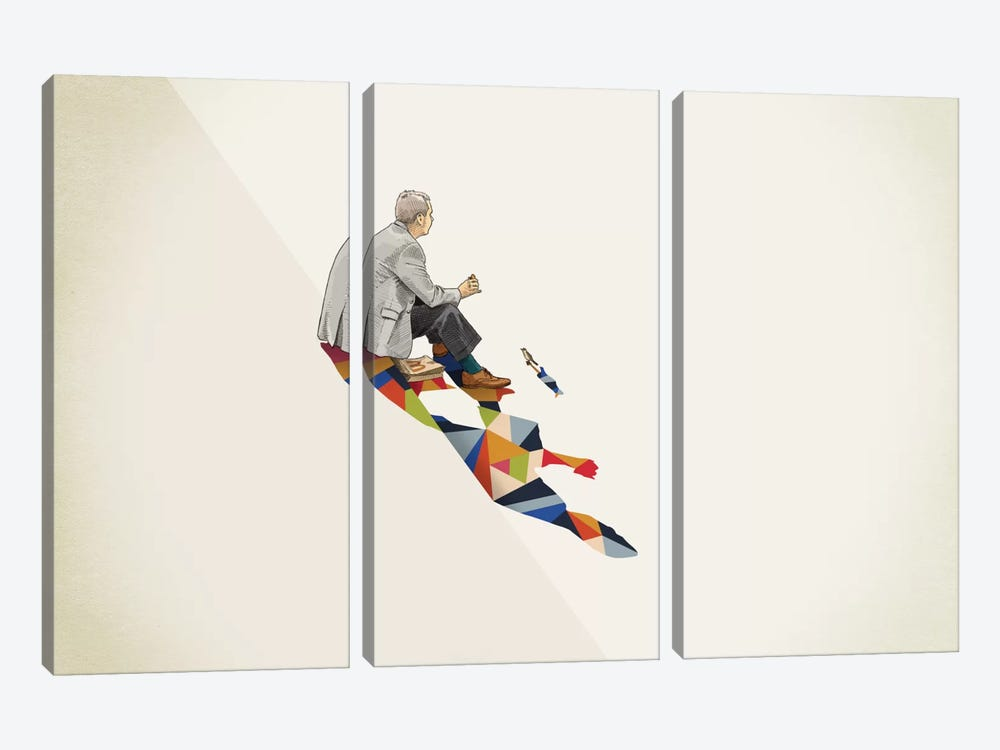 Walking Shadow Lunch by Jason Ratliff 3-piece Canvas Wall Art