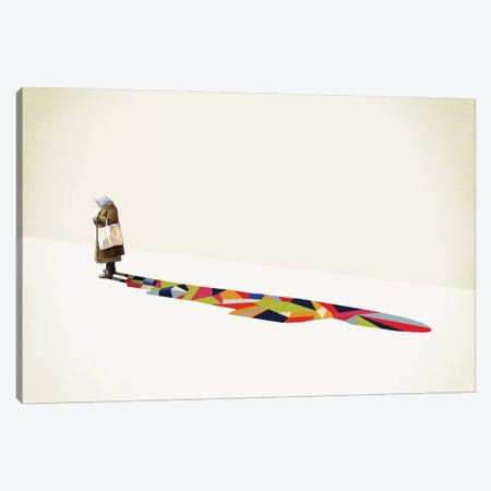 Walking Shadow Old Lady Canvas Print #JRF16} by Jason Ratliff Canvas Wall Art