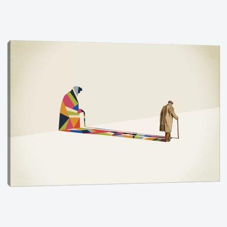 Walking Shadow Old Man Canvas Print #JRF17} by Jason Ratliff Canvas Artwork