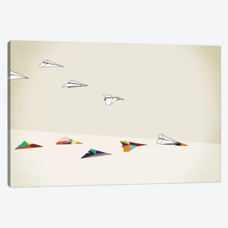 Walking Shadow Paper Planes Canvas Print #JRF18} by Jason Ratliff Canvas Art Print
