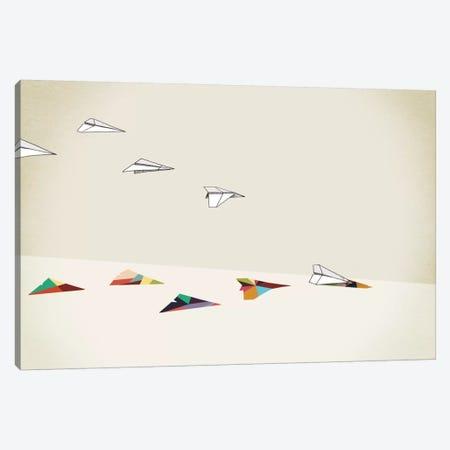 Walking Shadow Paper Planes Canvas Print #JRF18} by Jason Ratliff Canvas Art Print
