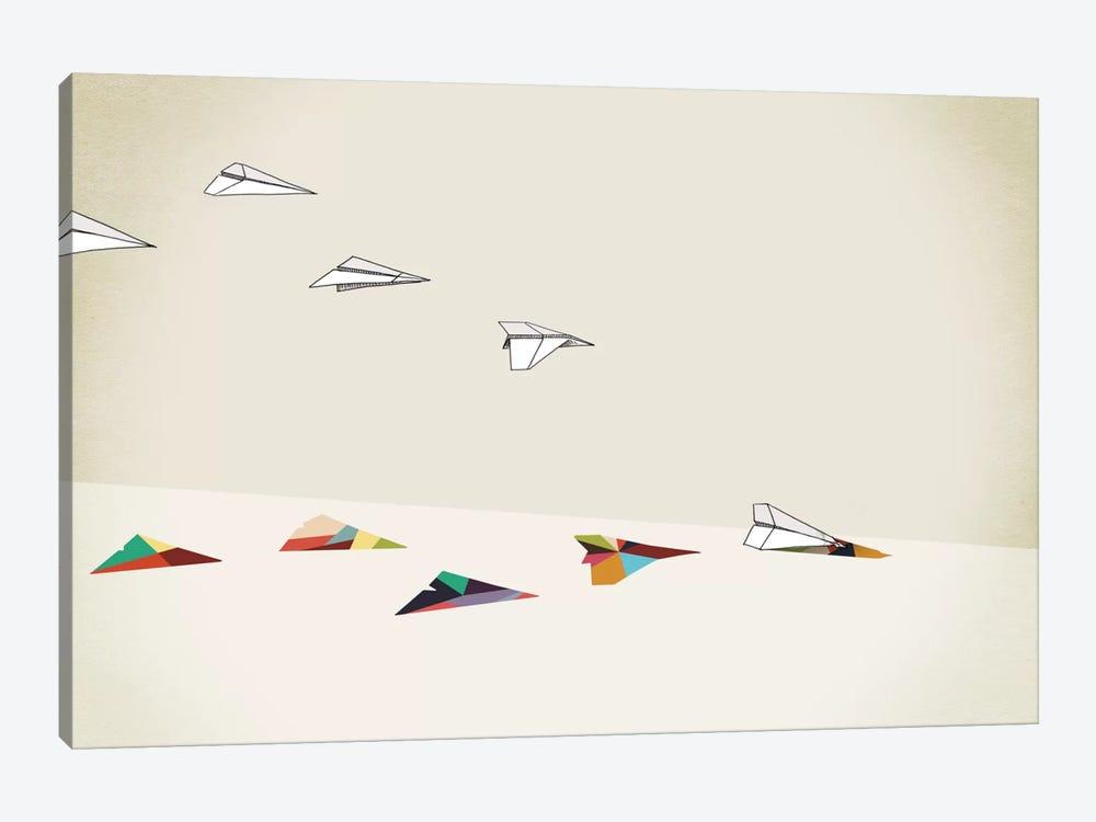 Walking Shadow Paper Planes by Jason Ratliff 1-piece Canvas Art