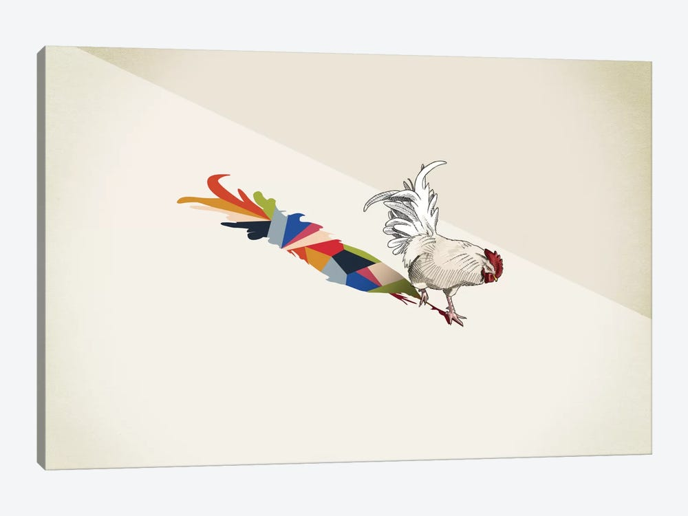 Walking Shadow Rooster by Jason Ratliff 1-piece Art Print