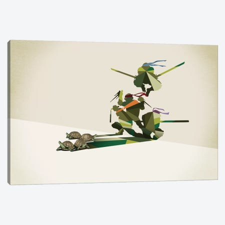 Walking Shadow Turtles Canvas Print #JRF22} by Jason Ratliff Canvas Art