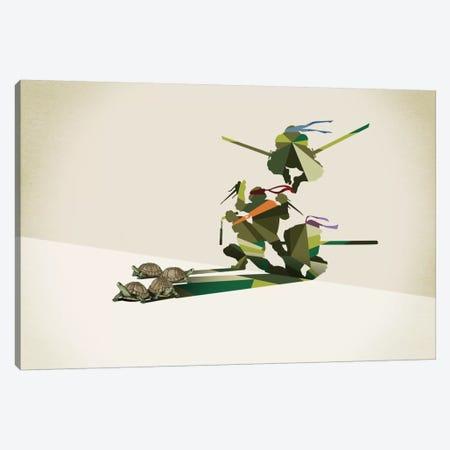 Walking Shadow Turtles Canvas Print #JRF22} by Jason Ratliff Canvas Art