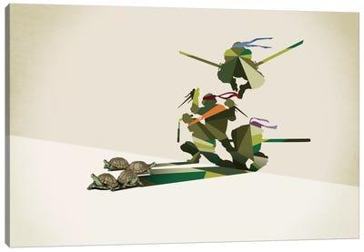 Walking Shadow Turtles Canvas Art Print