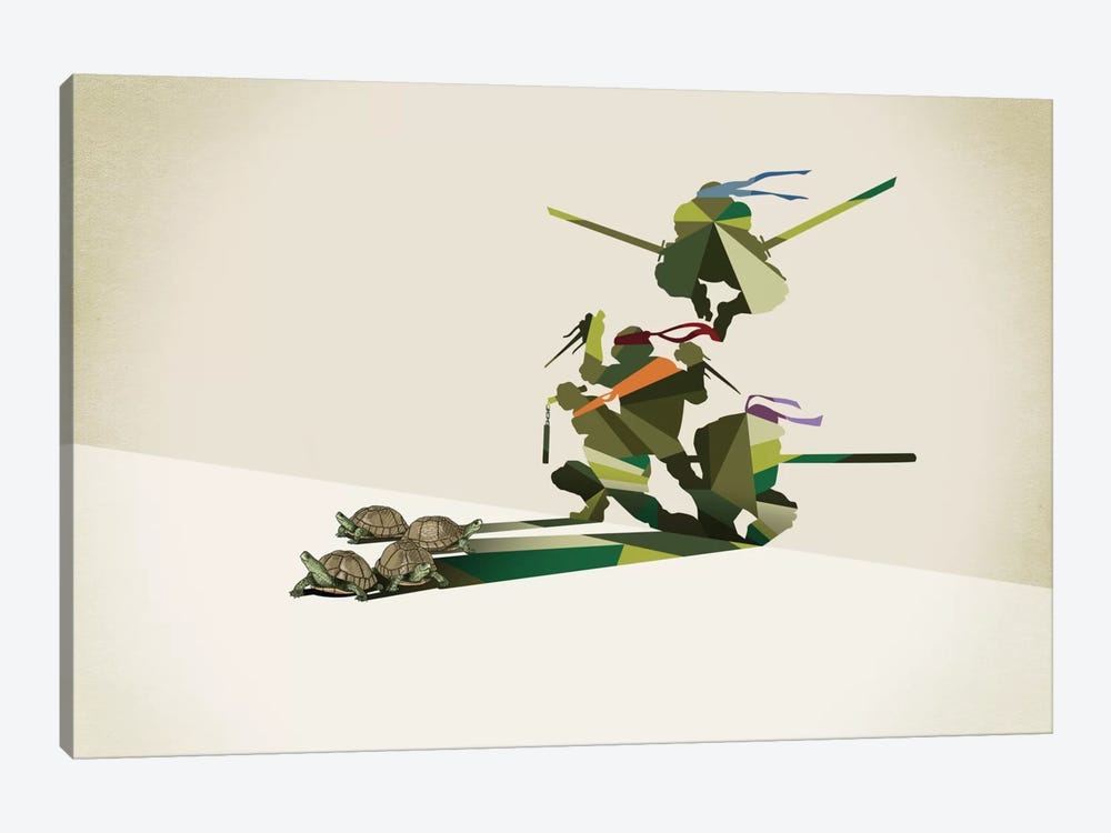 Walking Shadow Turtles by Jason Ratliff 1-piece Canvas Art Print