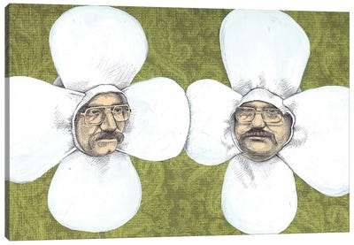 Flower Men Canvas Art Print