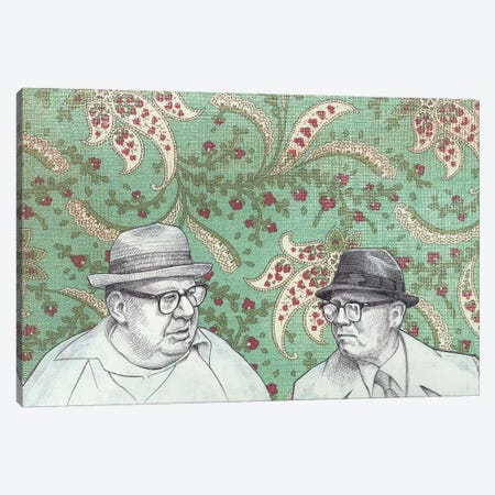 Old Men Canvas Print #JRF32} by Jason Ratliff Art Print