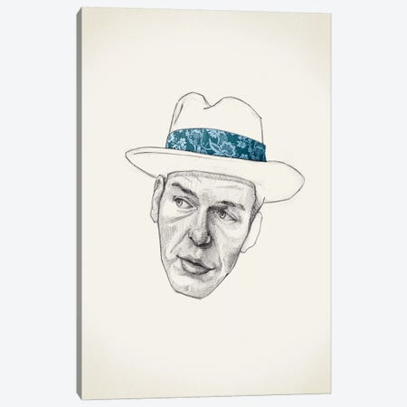 Sinatra Canvas Print #JRF34} by Jason Ratliff Canvas Wall Art