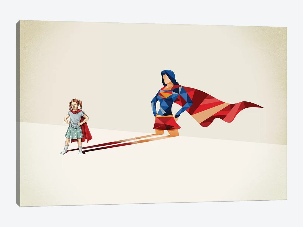 Walking Shadow Heroine 1-piece Canvas Art