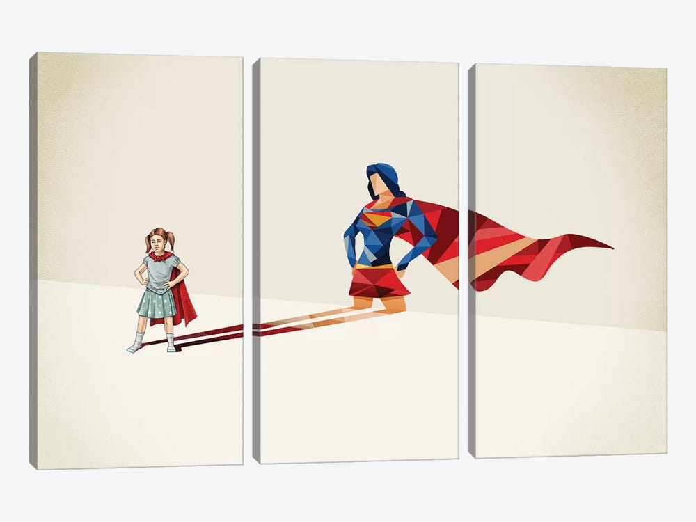 Walking Shadow Heroine 3-piece Canvas Wall Art