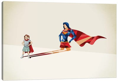 Walking Shadow Heroine Canvas Art Print
