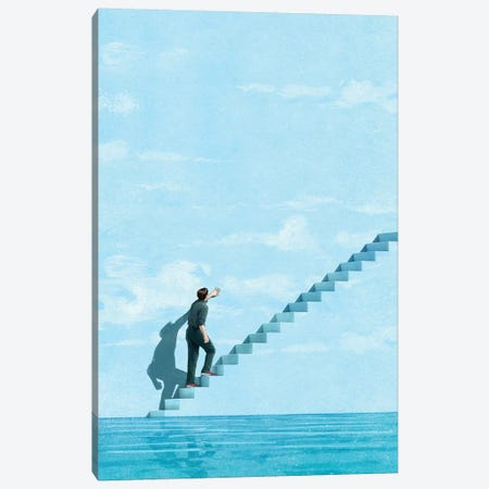 Stairway Canvas Print #JRF40} by Jason Ratliff Canvas Artwork