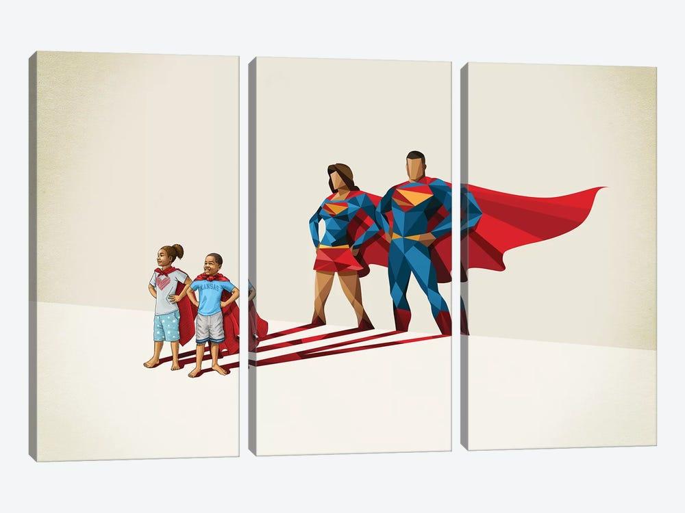 Family Traits by Jason Ratliff 3-piece Canvas Print